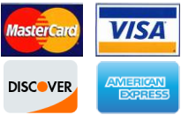 We Accept Master card, Visa, Discover and American Express